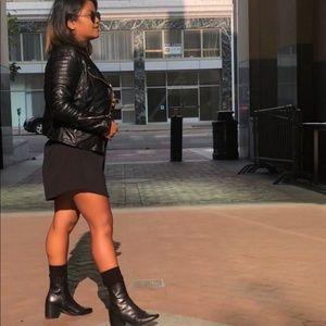 H&M black leather jacket